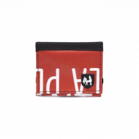 VAHO.WS Cartera Reciclada Lompakko Rojo Letras Blancas