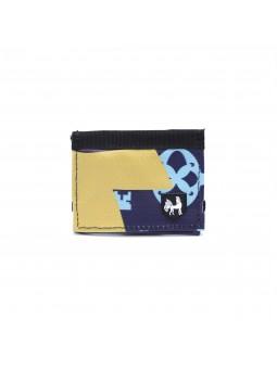 Nukak Recycled Wallet Lompakko Navy - Yellow