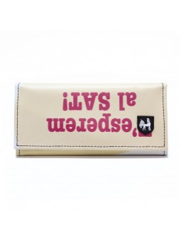 VAHO Recycled Wallet Miel Beige Sat