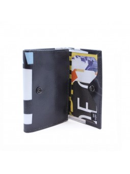 VAHO Recycled Wallet Pepper Negro Letras Blancas