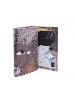 VAHO Recycled Wallet Pepper Marron