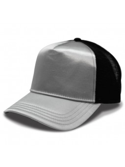 Gorra Atlantis RAPPER SATIN plata