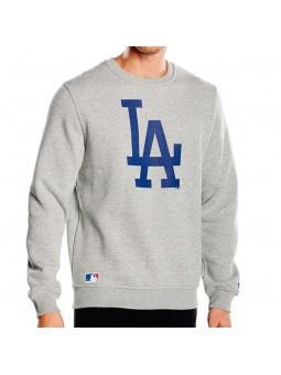 Sudadera Los Angeles Dodgers Nos Crew New Era gris