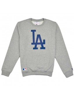 Sudadera Los Angeles Dodgers Nos Crew New Era gris