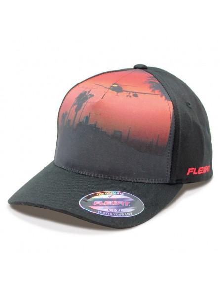 Gorra FLEXFIT 6277FB negro/rojo