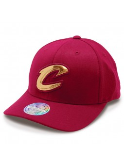 CLEVELAND CAVALIERS Metal Logo Mitchell & Ness burgundy cap