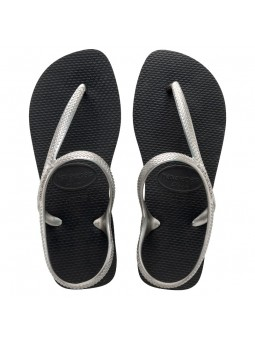 HAVAIANAS FLASH URBAN Woman Black/Grey Flip Flops
