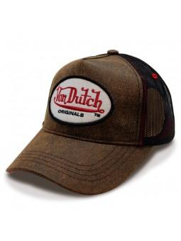 Gorra Von Dutch OG marrón rojo