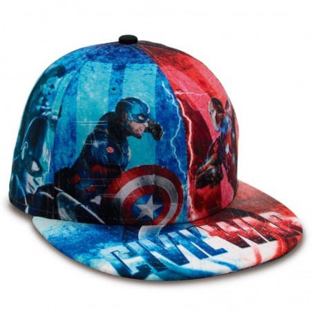 Allover Civil War Iron Man & Captain America 59FIFTY New Era Cap