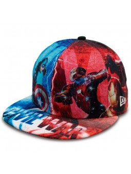 Gorra Allover Civil War Iron Man & Capitan America 59FIFTY New Era