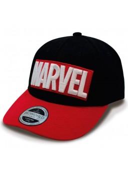 Gorra MARVEL curva negro rojo