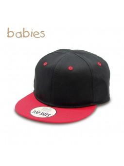 4e83f2eb0135 Gorra de Bebé TOP HATS Snapback Negro/Rojo