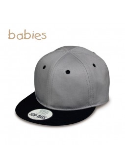 Gorra para Bebé Top Hats Snapback gris negro