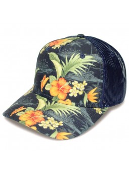 TOP HATS Rapper Cotton HAWAIAN FLOWERS Cap