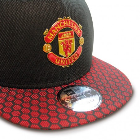 Manchester United Hex Weave 9fifty New Era black red Cap