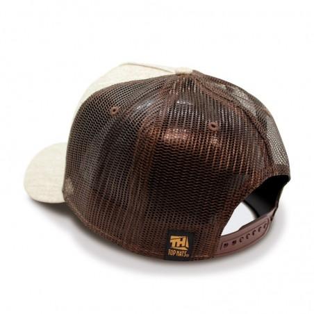 TOP HATS Battle Trucker beige brown Cap