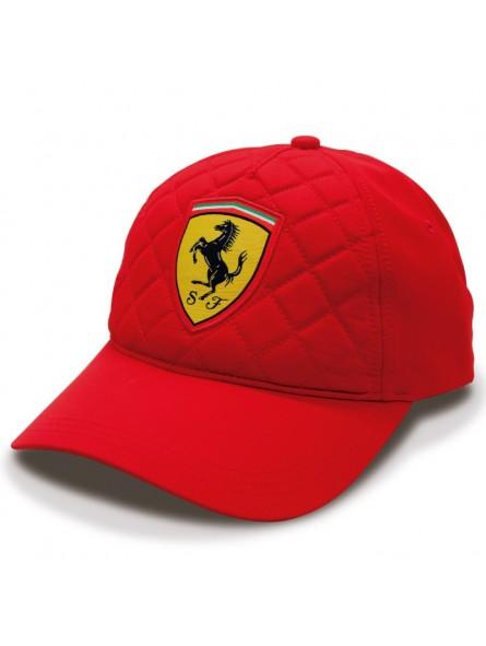 cfc9c4279bf8f Gorra Ferrari Quilted SF Racing rojo