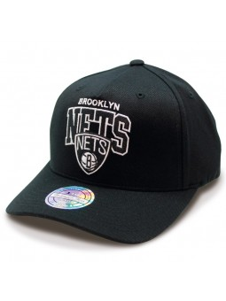 Gorra Brooklyn Nets NBA Aframe Mitchell & Ness negro