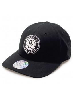 Gorra Rubber 233 Brooklyn Nets Mitchell & Ness negro