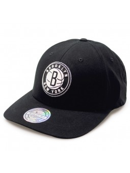 official photos 6b443 44ad8 Rubber 233 Brooklyn Nets Mitchell   Ness black Cap