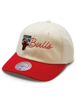 Chicago Bulls Offwhite Mitchell & Ness raw white Cap