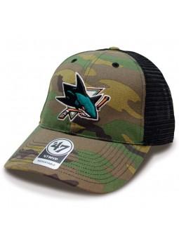 San Jose Sharks NHL trucker 47 Brand camouflage Cap