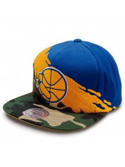 Gorra Golden State Warriors NBA Camo Paint Mitchell & Ness