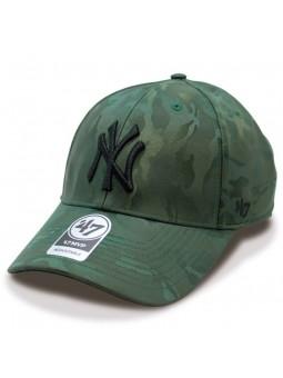 Gorra New York Yankees MLB 47' Brand camuflaje oliva
