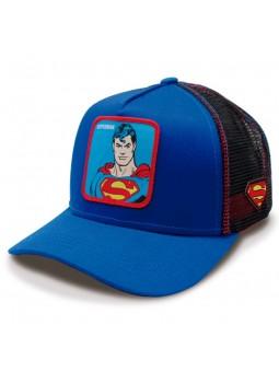 SUPERMAN Capslab trucker Cap royal blue and black