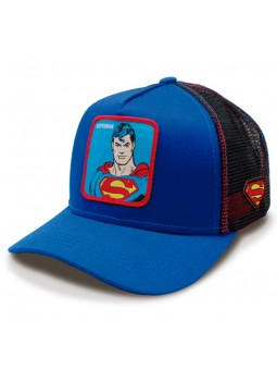 SUPERMAN royal/black trucker Cap