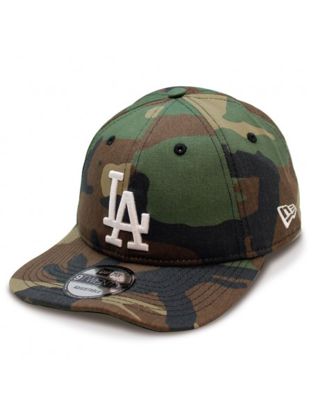 Los Angeles Dodgers Packable   Plegable New Era olive camouflage Cap 67bdc691e3f