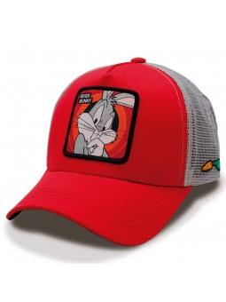 Gorra de rejilla BUGS BUNNY Looney Tunes Rojo/Gris