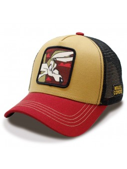 WILE E. COYOTE Looney Tunes Camel/black Trucker Cap