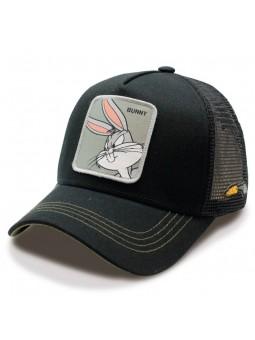 BUGS BUNNY Looney Tunes BlackTrucker Cap