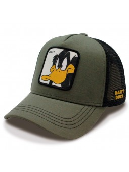"Gorra de rejilla PATO LUCAS ""DUFFY DUCK"" Looney Tunes oliva/negro"