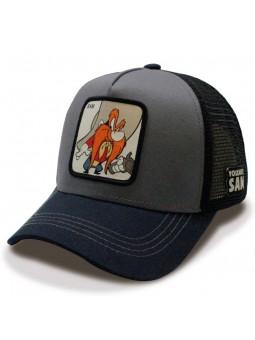 Gorra de rejilla SAM BIGOTES Looney Tunes gris oscuro/negro