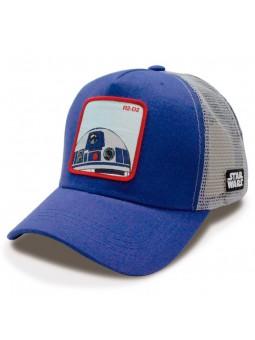 R2-D2 STAR WARS royal/grey trucker Cap