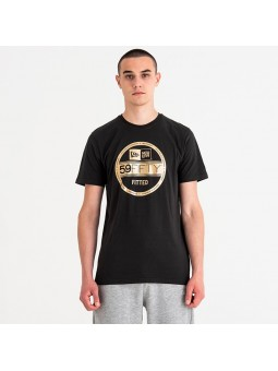 Camiseta NEW ERA Visor Sticker 59fifty Negro