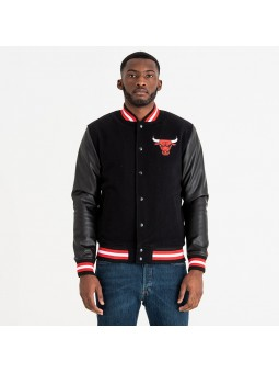 Chaqueta NEW ERA NBA Team Logo Varsity Chicago BULLS negro
