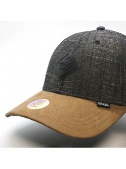 DJINNS Rough Drapery 6 panel curved black cap
