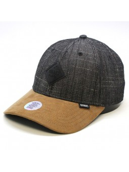 DJINNS Rough Drapery 6 panel curved black cap