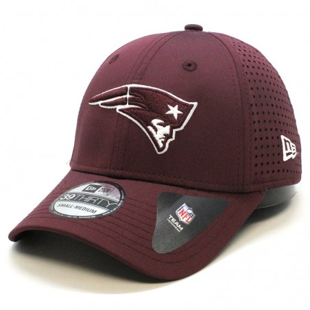 New England PATRIOTS 39THIRTY NFL Feather perf Team New Era maroon Cap