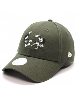 Minnie MOUSE 9FORTY New Era Women Olive Cap
