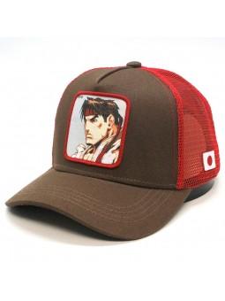 Gorra de rejilla RYU Street Fighter marron/rojo