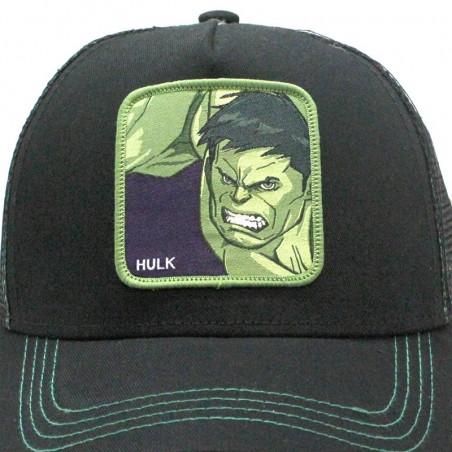 Gorra de rejilla HULK Marvel de color negro