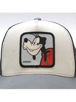 Dingo Goofy Disney Beige Grey Black Trucker Cap