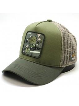 Gorra de rejilla YODA star wars de color verde oliva