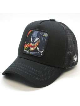 Gorra de rejilla VENOM Marvel de color negro