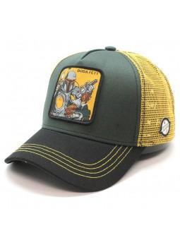 BOBA FETT star wars olive trucker Cap
