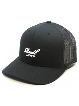 Gorra REELL curved trucker negro